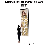 MEDIUM CUSTOM PRINTED BANNER FLAG KIT (SINGLE-SIDED)