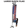 LARGE CUSTOM PRINTED BANNER FLAG KIT (SINGLE-SIDED)