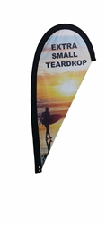 EXTRA SMALL CUSTOM PRINTING TEARDROP FLYING FLAG