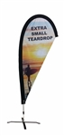EXTRA SMALL CUSTOM PRINTING TEARDROP FLYING FLAG KIT (Single-Sided)
