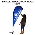 SMALL CUSTOM PRINTED TEARDROP FLAG KIT (SINGLE-SIDED)