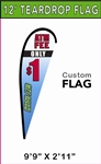 MEDIUM CUSTOM PRINTING TEARDROP FLYING BANNER FLAG