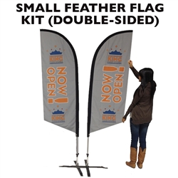 SMALL CUSTOM PRINTING FEATHER FLYING BANNER FLAG KIT (Double-Sided)
