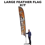LARGE CUSTOM PRINTING FEATHER FLAG KIT (Single-Sided)