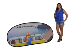 CUSTOM PRINTED JELLY BEAN POP UP BANNER w/ TWO SIDES- MEDIUM