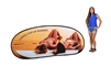 CUSTOM PRINTED JELLY BEAN POP UP BANNER w/ TWO SIDES - LARGE