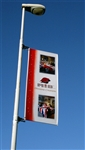 "34.5"" x 96""- FLEX LIGHT POLE BANNER"