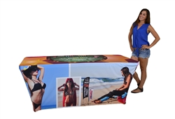 6ft Custom Promotional Table Cover- Stretch Fabric
