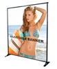 GIANT ADJUSTABLE BANNER STAND - UP TO 10ft X 8ft