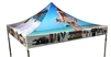 10 X 10 CUSTOM PRINTED CANOPY COVER FOR EVENT TENT FRAME