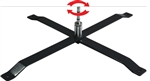 STEEL CROSS BASE W/ BALL BEARING SPINDLE FOR FIBERGLASS ADVERTISING BANNER FLAG POLE