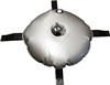 STEEL CROSS BASE & WATER WEIGHT BAG W/ BALL BEARING SPINDLE FOR FIBERGLASS ADVERTISING BANNER FLAG POLE