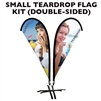 SMALL CUSTOM PRINTED TEARDROP FLAG KIT (DOUBLE-SIDED)