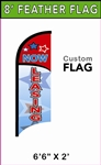 SMALL CUSTOM PRINTING FEATHER FLYING BANNER FLAG