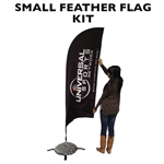 SMALL CUSTOM PRINTING FEATHER FLYING BANNER FLAG KIT (Single-Sided)