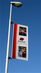 "34.5"" x 84""- FLEX LIGHT POLE BANNER"