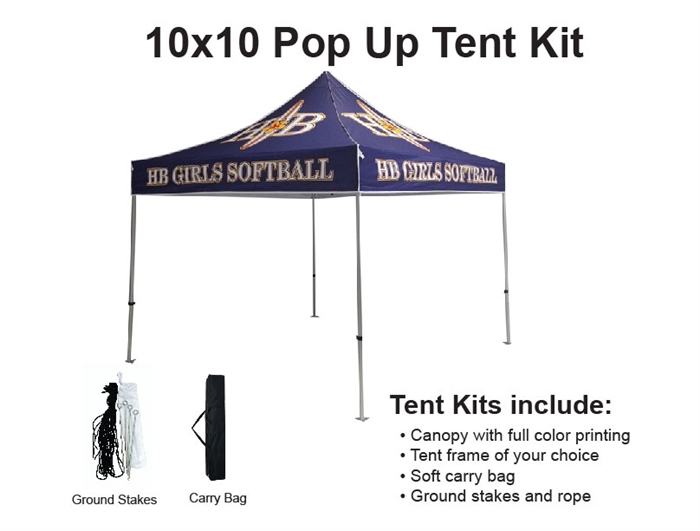 10 X 10 Event Tent W Custom Printed Canopy Lowest Net