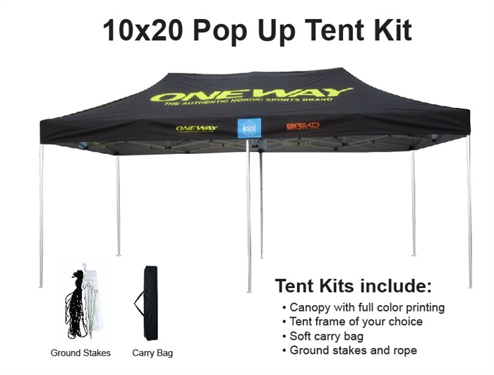 Alternative Views  sc 1 st  Sales Banners u0026 Sales Flags & 10 X 20 Event Pop Up Tent w/ Custom Printed Canopy. Lowest NET ...
