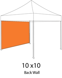 Full Back Wall or Side Wall for 10x10 Pop-up Tent