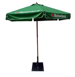 CUSTOM PRINTED WOODEN MARKET UMBRELLA